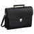 ALASSIO Serviette Deluxe noire en simili cuir 5 compartiments + poches - Dimensions : L40 x H32 x P15 cm