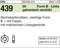 Sechskantmu.,Form B BM8