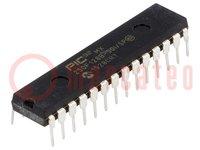PIC mikrokontroller; SRAM:32kB; 50MHz; THT; DIP28