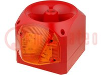 Signaller: lighting-sound; 10÷60VDC; siren, flashing light; IP66