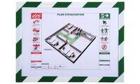 EXACOMPTA Magnetrahmen, DIN A4, grün/weiß (8702109)