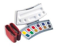 Aquarell-Malkasten 725D/12, Kunststoffkasten mit 12 Farben