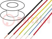 Leitungen; FLRY; Line; Cu; 0,35mm2; PVC; gelb; 60V; 100m; Klasse:5