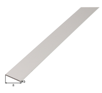 Flachstange, Alu silber elox., LxBxS 1000 x 50 x 3 mm