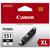 Canon CLI-551BK XL, XL-Tintentank Schwarz