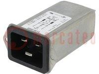 Steckverbinder: zur AC-Stromversorgung; Buchse; lNenn:16A; 0,6mH