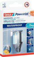 tesa Powerstrip Klebestrips für bis zu 2kg,Waterproof, Large