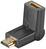 HDMI+-Adapter, HDMI+ A-Buchse > HDMI+ A-Stecker abwinkelbar