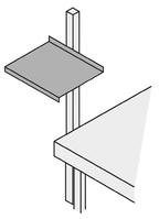 Universalablage B440xT520xH90mm silbergrau f.Packtisch-Holme