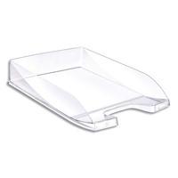 5 ETOILES Corbeille � courrier en polystyr�ne jusqu'au format 24x32 cm Dim L35 x H6,5 x P25,5 cm cristal