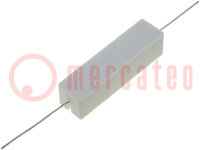Resistor: wire-wound; cement; THT; 390mΩ; 15W; ±5%; 48x13x13mm