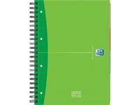 Oxford Office Essential Spiraalblok 4-gaats, Gelinieerd, A4, Assorti (pak 5 x 120 vel)