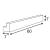 Spiegelleuchte L-LINE 60 silber-grau