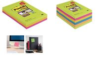 Post-it Super Sticky Notes, 101 x 101 mm, liniert, Pack 8+4 (9000699)
