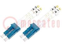 Fiber patch cord; OS1; LC/PC, both sides; 10m; LSZH; Colour: yellow