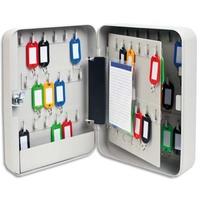5 ETOILES Armoire à clés capacité 60 clés grise - Dimensions : L18 x H25 x P8 cm