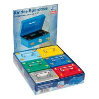 Artikelabbildung - KINDER-SPARDOSE & GELDKASSETTE, 2in1, 6er DISPLAY