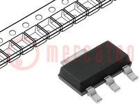 Transistor: N-MOSFET; unipolar; 20V; 660mA; 1,8W; SOT223; SIPMOS™