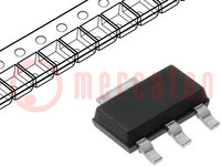 IC: power switch; high-side switch; 700mA; Canales:1; N-Channel