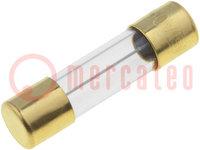 Biztosíték: olvadó; késleltetett; üveg; 2A; 250VAC; 5x20mm; SMD; réz