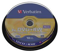 DVD+RW VERBATIM 4.7GB 4X 10PK SPINDEL