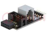 Adapter; IDC10,RJ12,penaansluiting, penlijst; Onderst.schak: PIC