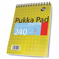Pukka Metallic Shortie Pad Wirebound Perforated Feint Ruled 240pp 80gsm 235x178mm Ref NM001 [Pack 3]