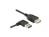 Verlängerungskabel USB 2.0 EASY Stecker A links/rechts gewinkelt an Buchse A, schwarz, 1m, Delock® [83551]