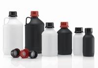 UN-Chemikalienflaschen 1000 ml enghals schwarz HDPE ohne Verschluß