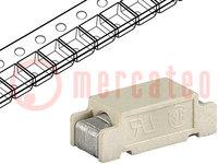 Biztosíték: olvadó; gyors; 4A; 250VAC; 250VDC; 11x4,6x3,9mm; SMD