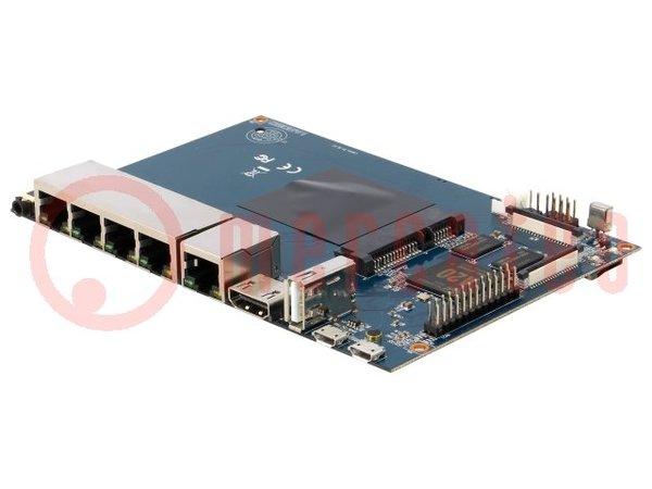 Készlet: router; A készletben: prototípus lemez; 148x100mm; 5VDC - BANANA PI BPI-R1
