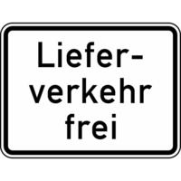 Modellbeispiel: VZ Nr. 1026-35, (Lieferverkehr frei)