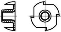 Einschlagmuttern mit 4 Einschlagspitzen M8x17mm IV