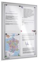 Legamaster Schaukasten ECONOMY Whiteboard für den Innenbereich, 8x DIN A4