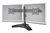 Doppel Monitor Halter mit Fuß,schwarz, 20° schwenkbar,20° neigbar,90° rotierbar 15'-24' TFT,max. Gewicht 30kg Digitus® [DA-90322]