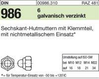 Hutmuttern M6