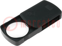 Folding magnifier; Mag: x10; Lens diam:45mm