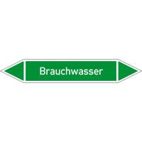 Rohrleitungskennzeichnung/Pfeilschild Gruppe1 Wasser(grün),selbstkl. 12,6x2,6cm Version: P1038 DIN 2403 - Brauchwasser P1038
