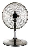 Desk and Pedestal Fan 13 Inch 2 in 1 Adjustable Height 90deg Oscillation with Manual Tilt 3-Speed Silver