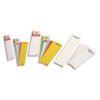 ESSELTE Sachet de 10 étiquettes adhésives pour classeur à levier à dos large coloris blanc