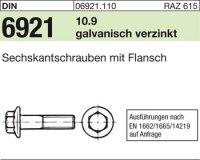 6kt.schr. mit Flansch M10x25