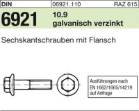 6kt.schr. mit Flansch M8x25