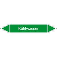Rohrleitungskennzeichnung/Pfeilschild Gruppe1 Wasser(grün),selbstkl. 12,6x2,6cm Version: P1241 DIN 2403 - Kühlwasser P1241