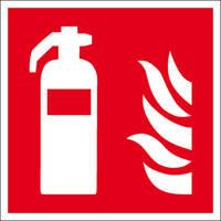 Brandschutzschild, Alu, nachleuchtend, Feuerlöscher Größe: 20,0 x 20,0 cm DIN EN ISO 7010 F001 ASR A1.3 F001