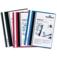 DURABLE Chemise de présentation Duraplus à lamelle A4 - personnalisable + gouttière de passage - Assortis