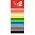 AGIPA Sachet 10 feuilles mousse format 40x60cm Rouge Jaune Gris Noir Orange Violet Beige Blanc Vert Bleu