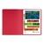 EXACOMPTA Chemise à lamelles et compresseur, capacité 350 feuilles perforées, carte lustrée coloris rouge