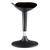 ALBA Tabouret ergonomique Flexy Noir en acier et polypropylène, assise tissu, Base ABS L43 x H25 x H44 cm