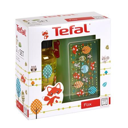 Tefal KIDS sada dóza plast+láhev tritan 0,4 L žlutá-liška K3169414