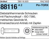 Diebstahlhemmende Schrauben M6x20-T30